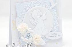 Kartka z aniołkiem na Komunię KK2002