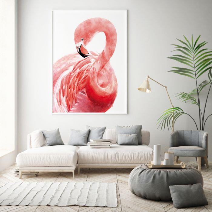 Plakat Flaming malowany 50x70 cm B2