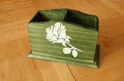 Piórnik z różą