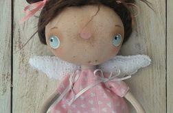 ANIOŁEK - lalka tekstylna,cute angel 11, OOAK