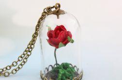 Naszyjnik róża - antyczny brąz
