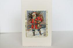 Kartka vintage z mikołajem 2