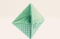 Bombka origami stożek z papieru choinki