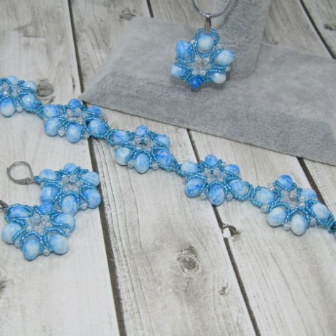 KOMPLET CANDY blue,white and aquamarie