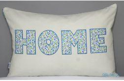 Poduszka haftowana 40/60 HOME BLUE