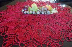 Obrus na drutach 90 cm czerwony