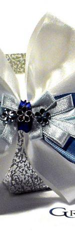 Dekoracyjna kokarda Uroczy błękit