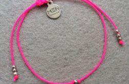 See You Vividly bransoletka różowy neon