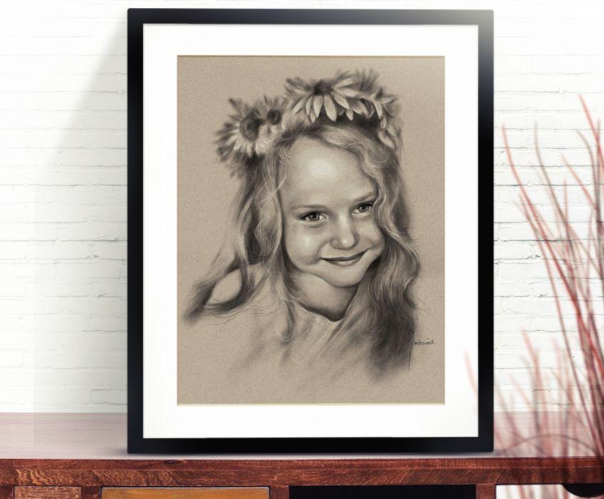 Portret dziewczynki ze zdjęcia na zamówienie