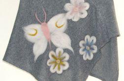 Ponczo dla dziewczynek w kwiatuszki