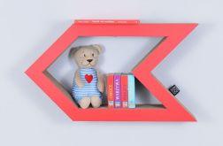 Półka na książki STRZAŁKA | czewony
