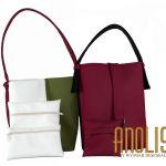 Bordowa torba na ramię