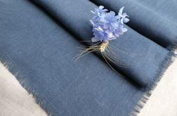 Bieżnik lniany klasyczny niebieski