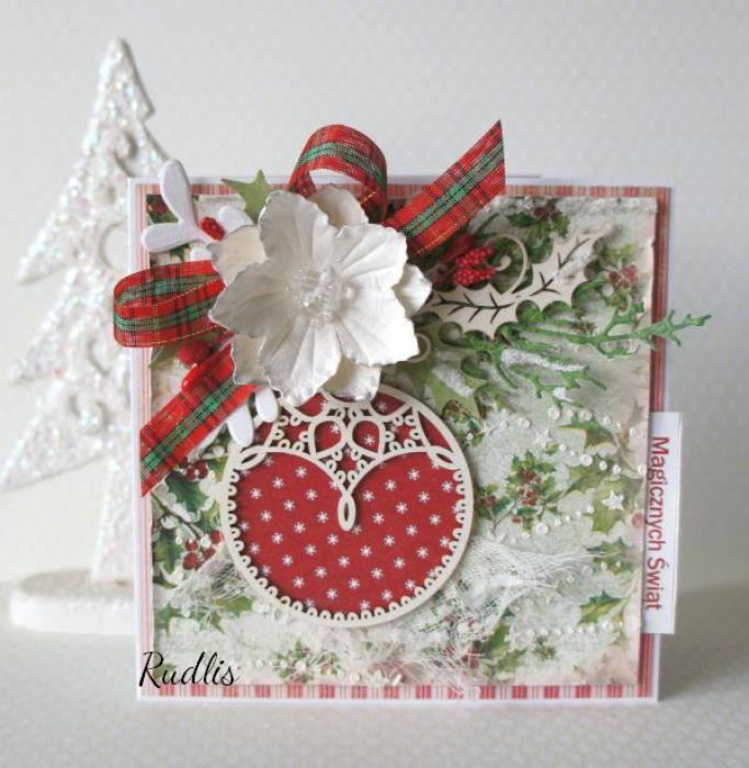 """Kartka świąteczna """"Magicznych Świąt"""" v.4"""