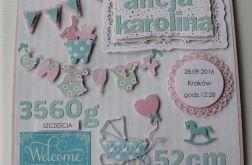 Metryczka Welcome Baby