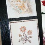 Stara deska i ceramika - ozdobna zawieszka - widok z boku