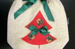 Świąteczny woreczek na prezenty