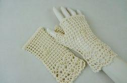 Romantyczne rękawiczki ecru