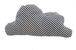 Designerska poduszka chmurka paski małe