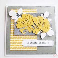 Kartka Uniwersalna z żółtymi różami