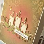 """Kartka bożonarodzeniowa """"Świecznik"""""""