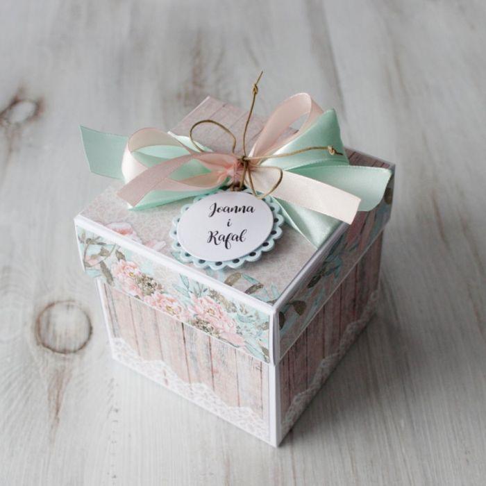 Pudełko - exploding box -ślub 4