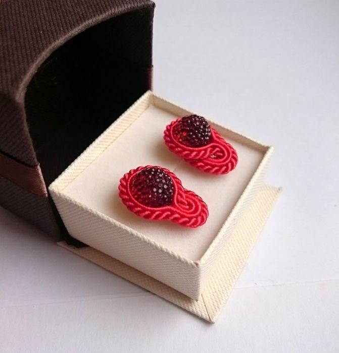 Płomienne - mini kolczyki sutasz