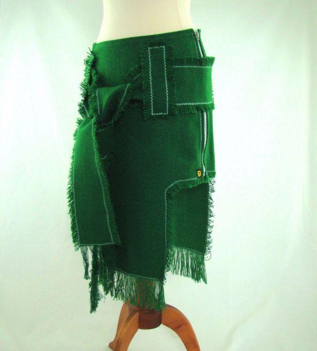 spódnica indiańska zielona