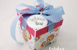 Pudełko na ślub -Folk w różu