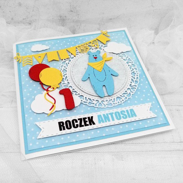Kartka urodzinowa z Misiem UDP 031 - kartka z misiem i balonami dla chłopca urodzinki (4)