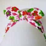 Opaska pin up kwiatuszki dla dziewczynki