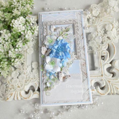 Ślubna kartka DL w pudełku 101