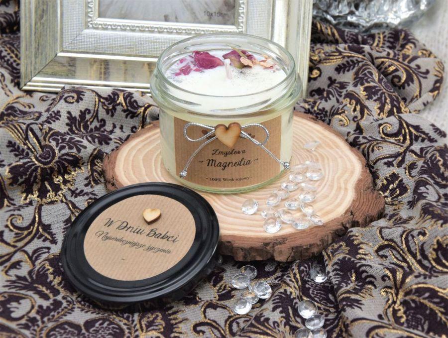 """Zapachowa świec sojowa """"Zmysłowa magnolia"""" M -"""