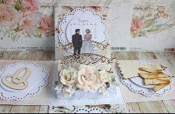 Exploding box ślubny kartka Florabella GOTOWY