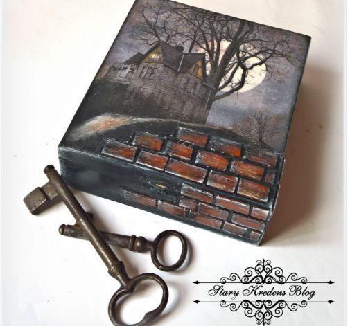 Pudełko na klucze.Decoupage.