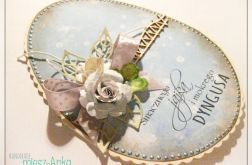 JAJKO - kartka wielkanocna z kwiatami 8