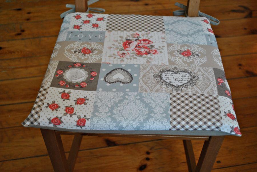 Poduszka na krzesło, siedzisko- Romantica