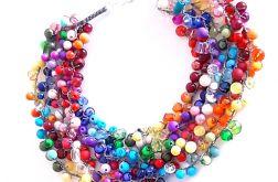 4547 tęczowy kolorowy naszyjnik kolia