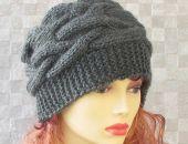 Stalowa zimowa czapka wykonana ręcznie