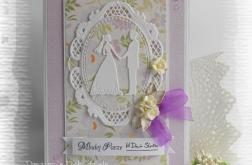 Pamiątka ślubna z Młodą Parą fioletowa