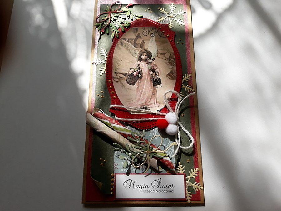 Boże Narodzenie z aniołem, vintage