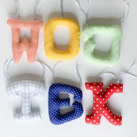 Duże bawełniane litery