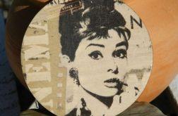 Magnes / Podkładka pod kubek Audrey Hepburn Dla kinomana