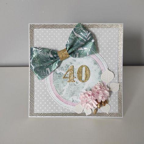 Kartka na urodziny 40 czterdziestka