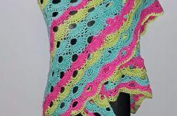 Kolorowa chusta na szydełku