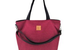 Torba shopperka Mili Duo Braid MDB2 - burgund