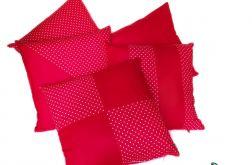 Komplet 5 poduszek - czerwony&kropki