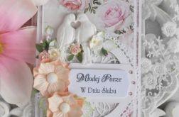Ślubna kartka DL w pudełku z okienkiem 16