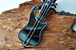 Wisior Gitara elektryczna , witraż
