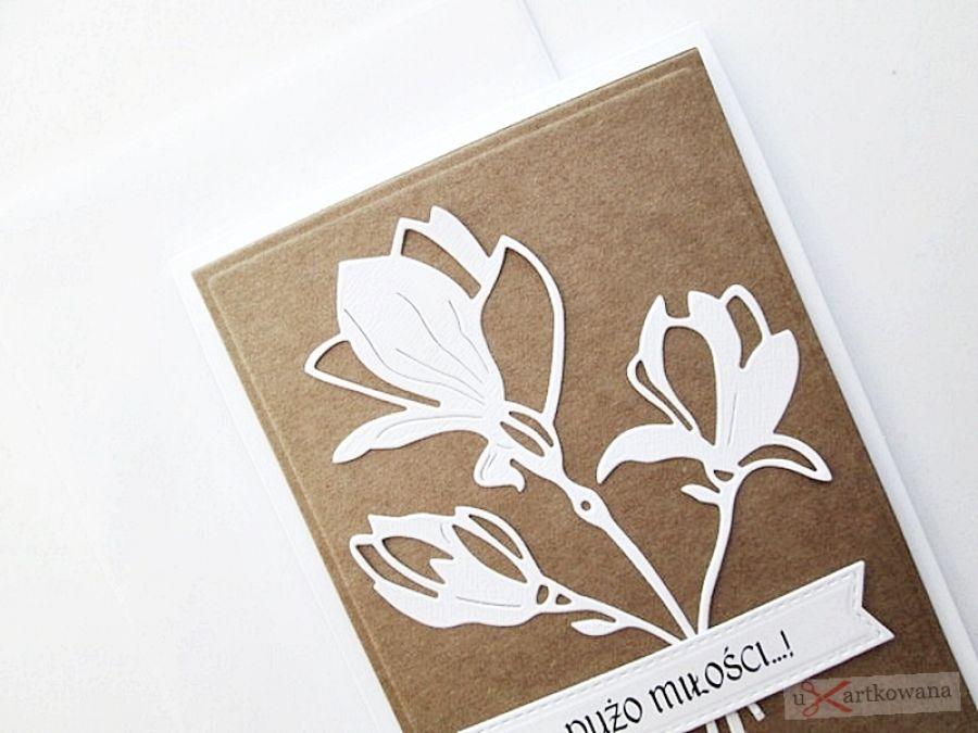 Kartka ŚLUBNA kraftowo-biała #2